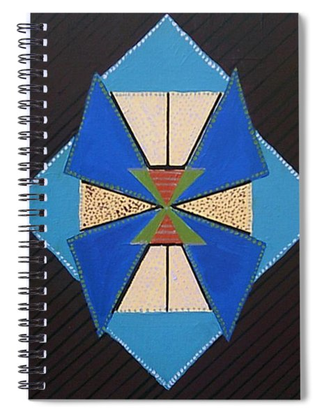 Spiral Notebook featuring the painting Tangram Geometric #1 by Samantha Galactica