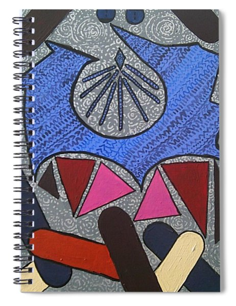 Spiral Notebook featuring the painting Tangram Geometric #3 by Samantha Galactica