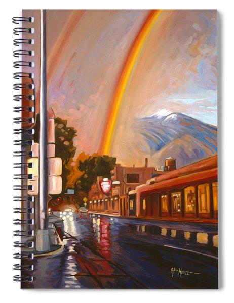 Taos Rainbow Spiral Notebook