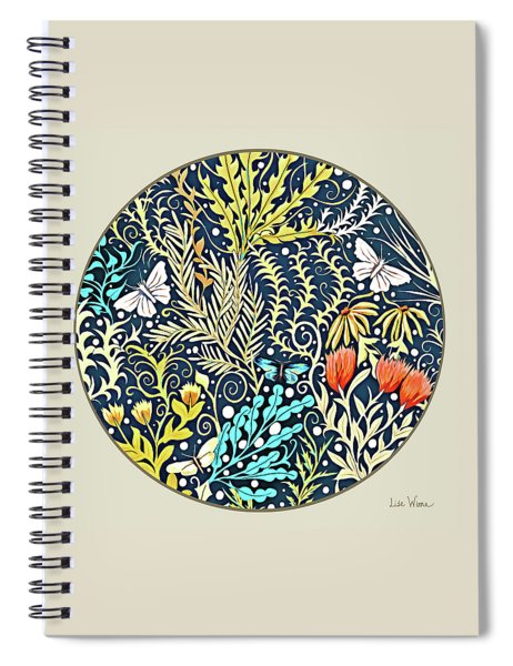Tapestry Design Button Spiral Notebook