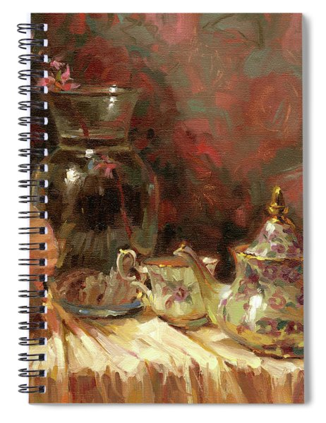 Tea By The Sea Spiral Notebook by Steve Henderson