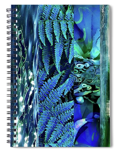 Teal Abstract Spiral Notebook