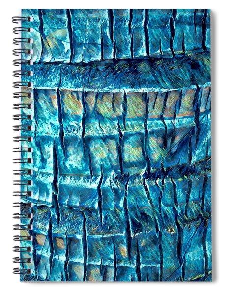Teal Palm Bark Spiral Notebook