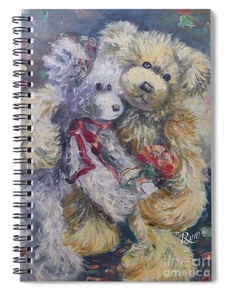 Teddy Bear Honeymooon Spiral Notebook