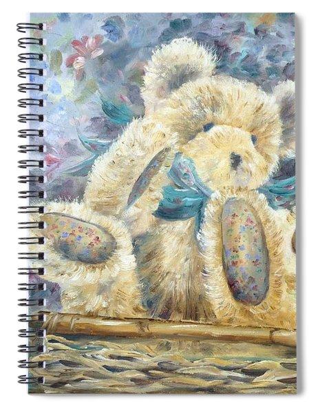 Teddy Bear In Basket Spiral Notebook