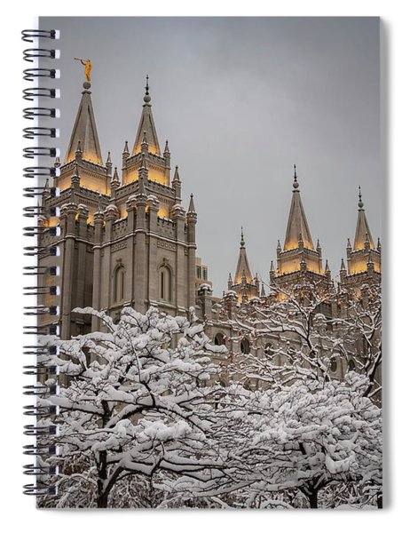 Temple In The Snow Spiral Notebook