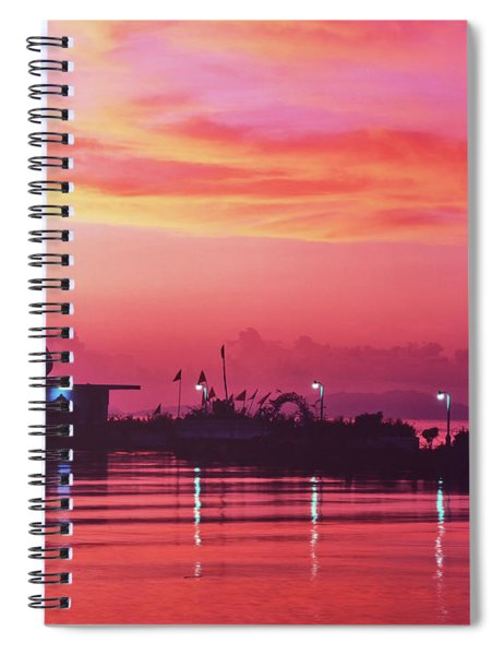 Temple On The Sea Spiral Notebook