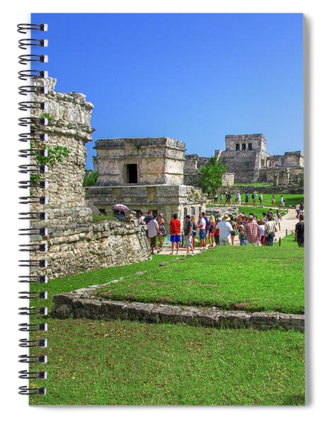 Temples Of Tulum Spiral Notebook