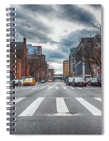 Spiral Notebook featuring the photograph Tenth Avenue Freeze Out by Alison Frank