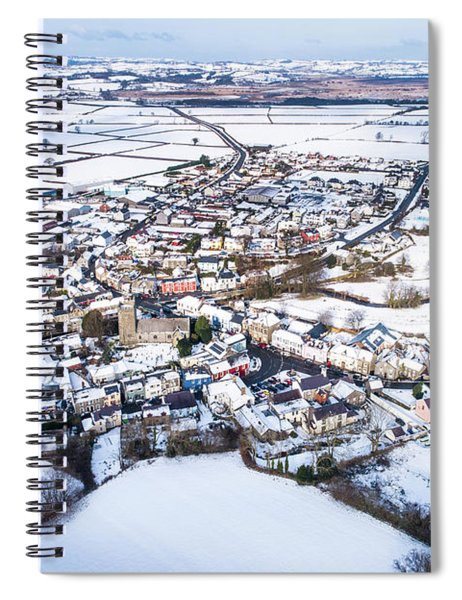 Tregaron In The Snow, From The Air Spiral Notebook
