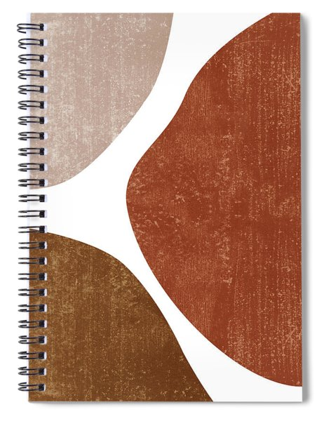 Terracotta Art Print 1 - Terracotta Abstract - Modern, Minimal, Contemporary Abstract - Brown, Beige Spiral Notebook
