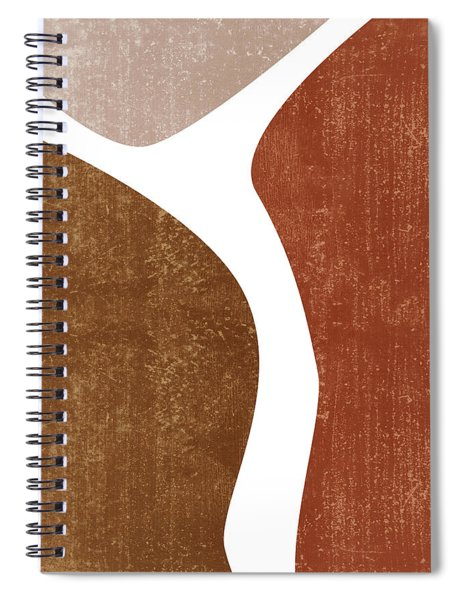 Terracotta Art Print 2 - Terracotta Abstract - Modern, Minimal, Contemporary Abstract - Brown, Beige Spiral Notebook