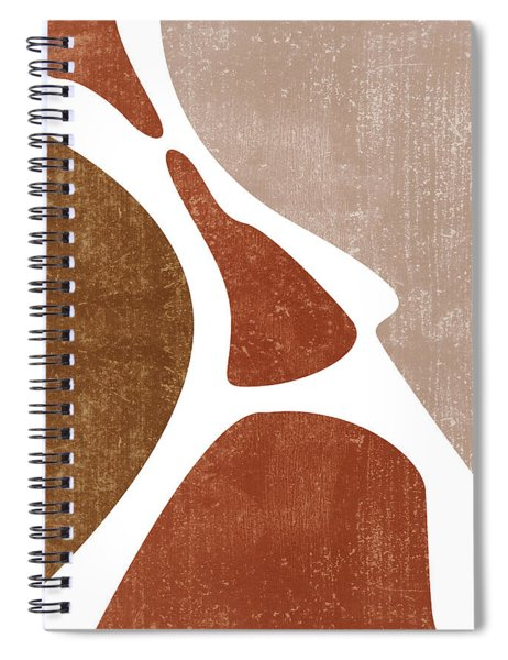 Terracotta Art Print 3 - Terracotta Abstract - Modern, Minimal, Contemporary Abstract - Brown, Beige Spiral Notebook