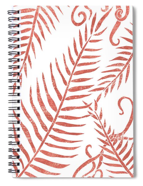 Terracotta Leaves - Terracotta Abstract Print - Modern, Minimal, Contemporary Abstract - Tropical Spiral Notebook