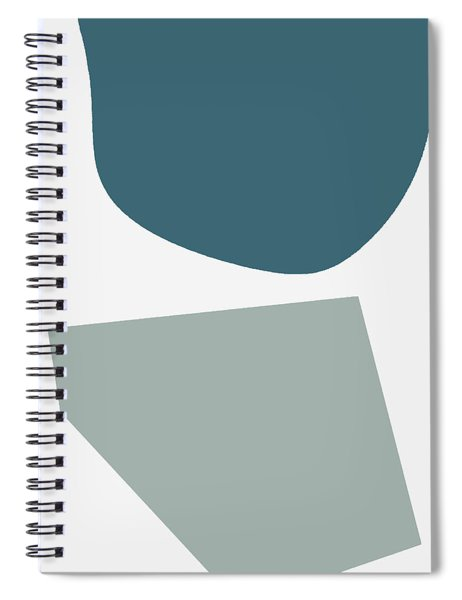 Terrazzo Abstract 2- Art By Linda Woods Spiral Notebook by Linda Woods