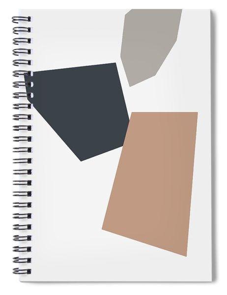 Terrazzo Abstract 3- Art By Linda Woods Spiral Notebook by Linda Woods