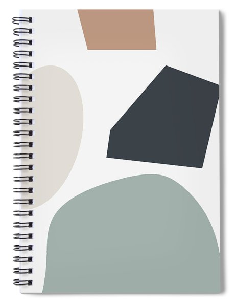 Terrazzo Abstract R- Art By Linda Woods Spiral Notebook by Linda Woods