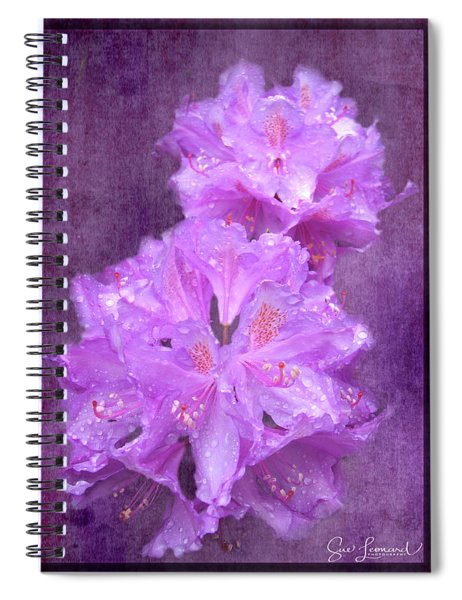 Testrured Rhododendrons Spiral Notebook