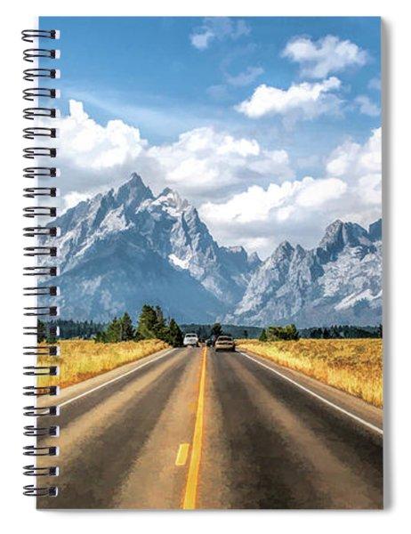 Grand Teton National Park Mountain Approach Spiral Notebook