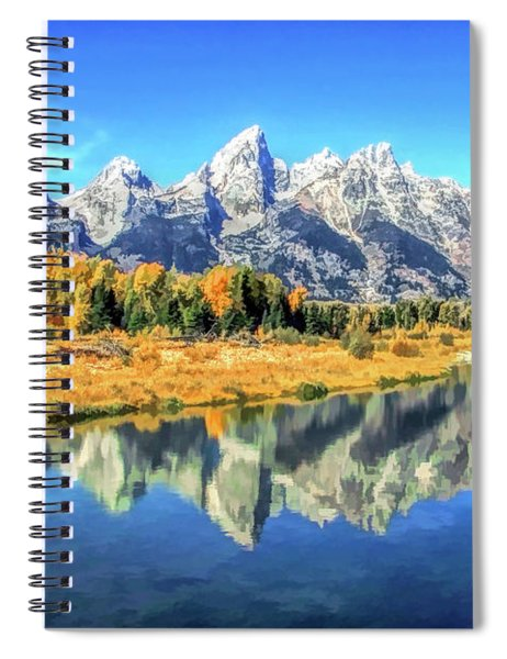 Grand Teton National Park Mountain Reflections Spiral Notebook