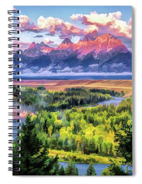 Teton Snake River Spiral Notebook by Christopher Arndt