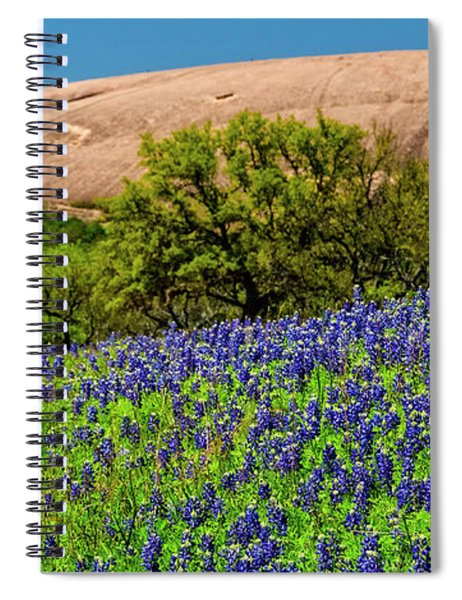 Texas Bluebonnets And Enchanted Rock 2016 Spiral Notebook