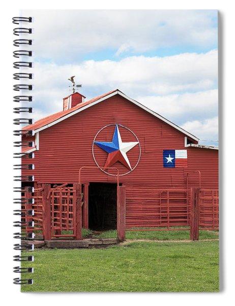 Texas Red Barn Spiral Notebook