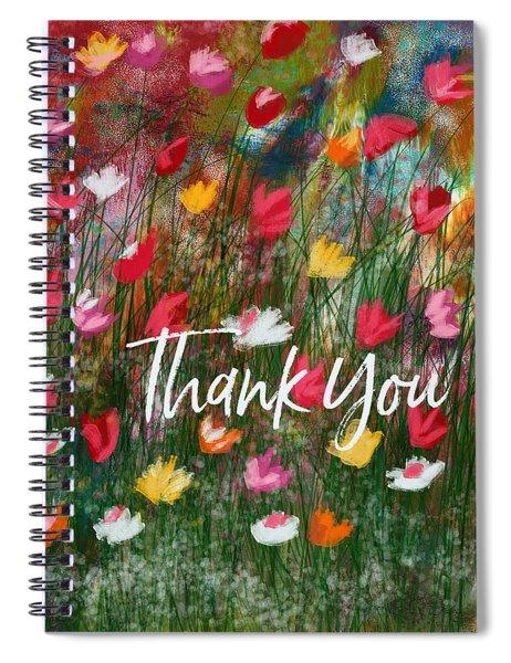 Thank You Garden- Art By Linda Woods Spiral Notebook