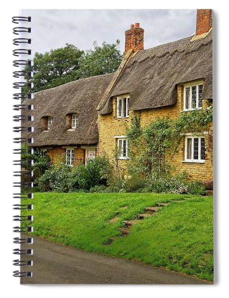 Thatched Cottages In Northamptonshire Spiral Notebook