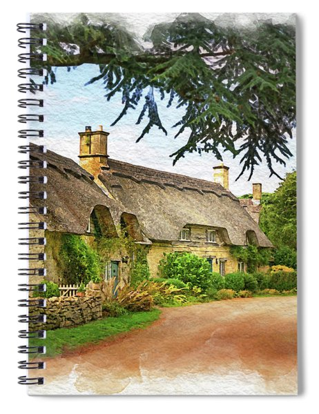 Thatched Roof Lane Spiral Notebook