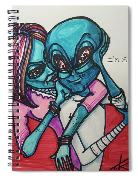 The Alien Is Serious Spiral Notebook