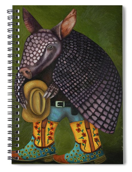 The Amadillo From Amarillo Spiral Notebook