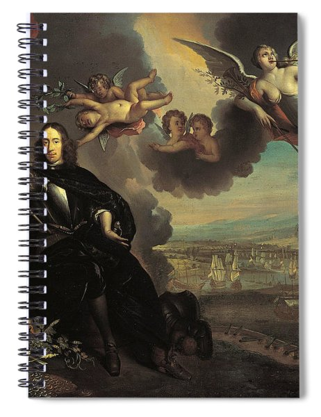 The Apotheosis Of Cornelis De Witt, With The Raid On Chatham In The Background Spiral Notebook