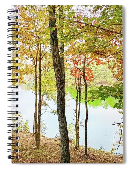 The Autumn Lake Spiral Notebook