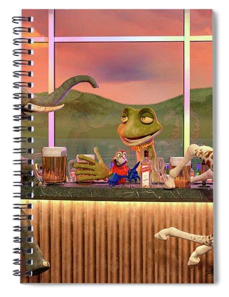 The Bar Scene Spiral Notebook