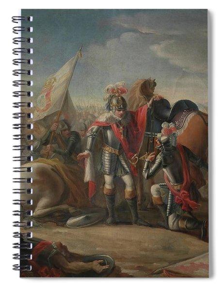 'the Battle Of Aljubarrota'. 1791. Oil On Canvas. John I Of Portugal. Spiral Notebook