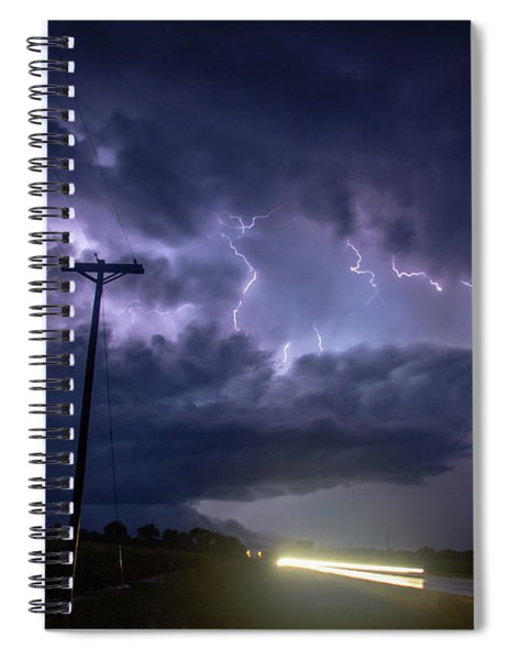 Spiral Notebook featuring the photograph The Best Supercell Of The Summer 043 by NebraskaSC