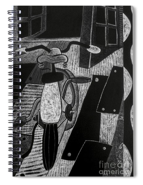 The Bicycle. Spiral Notebook