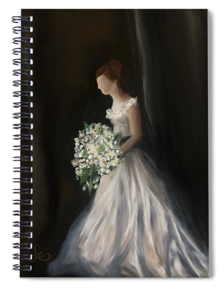 Spiral Notebook featuring the painting The Big Day by Fe Jones