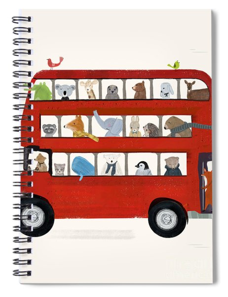 The Big Little Red Bus Spiral Notebook