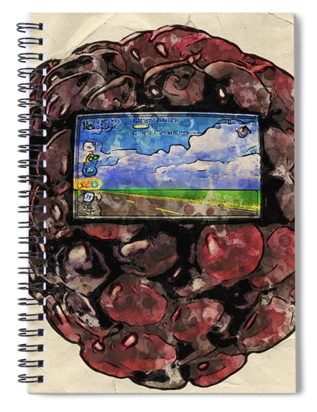 Spiral Notebook featuring the digital art The Blackberry Concept by ISAW Company