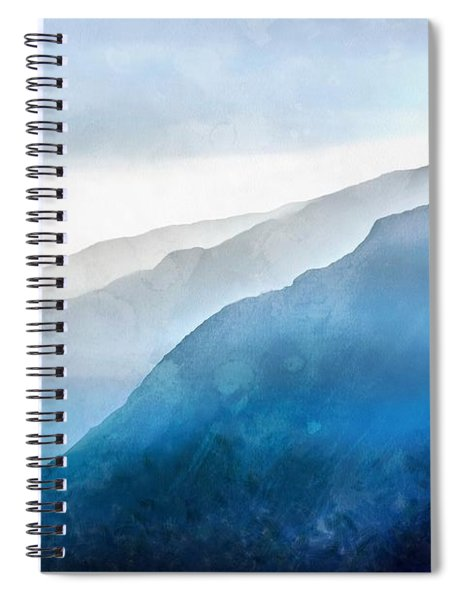 The Blue Ridge Mountain 1 Painting Spiral Notebook