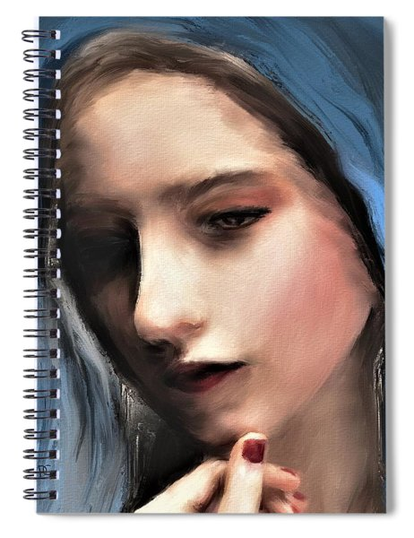 The Blue Scarf Spiral Notebook
