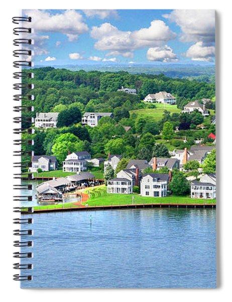 The Boardwalk, Smith Mountain Lake, Va Spiral Notebook