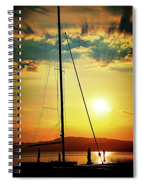 the Boat and the Sky Spiral Notebook