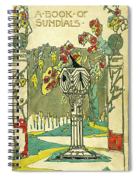 Cover Design For The Book Of Old Sundials Spiral Notebook