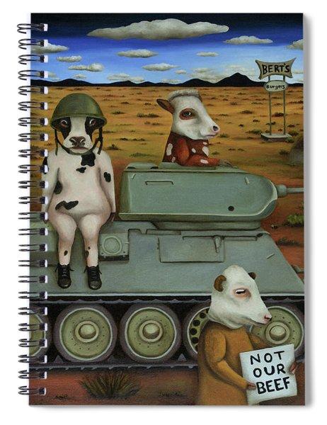 The Bovine Burger War Spiral Notebook