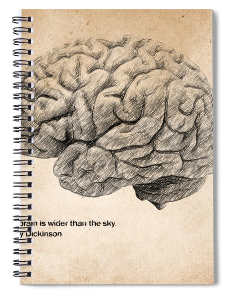 The Brain Is Wider Than The Sky Spiral Notebook