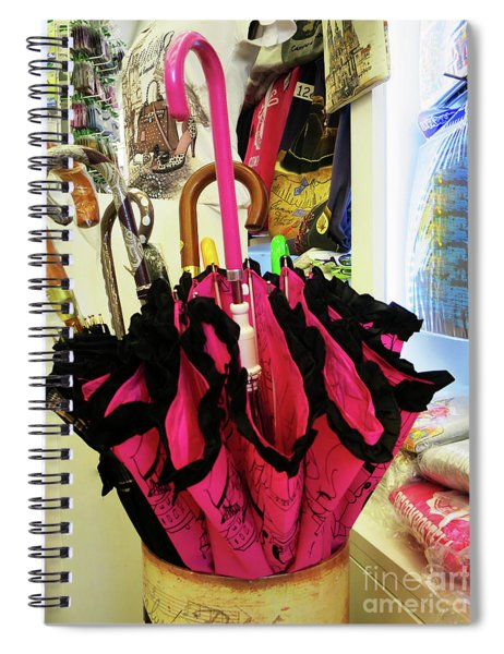 The Brolly Stand Spiral Notebook by Rick Locke