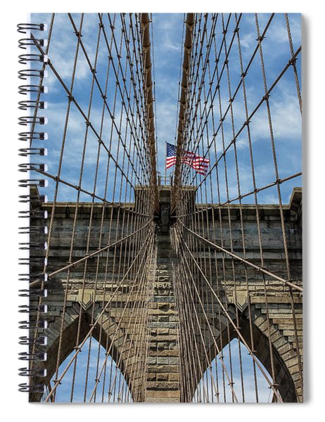 Spiral Notebook featuring the photograph The Brooklyn Bridge by Robert Bellomy